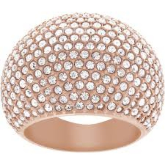 b69cc538e Swarovski Jewelry | Crystal Ring Rose Gold Eternity Ring 55 | Poshmark